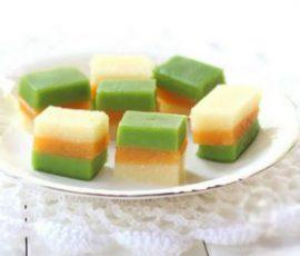 Món bánh sắn ba màu ngọt mát cho ngày hè