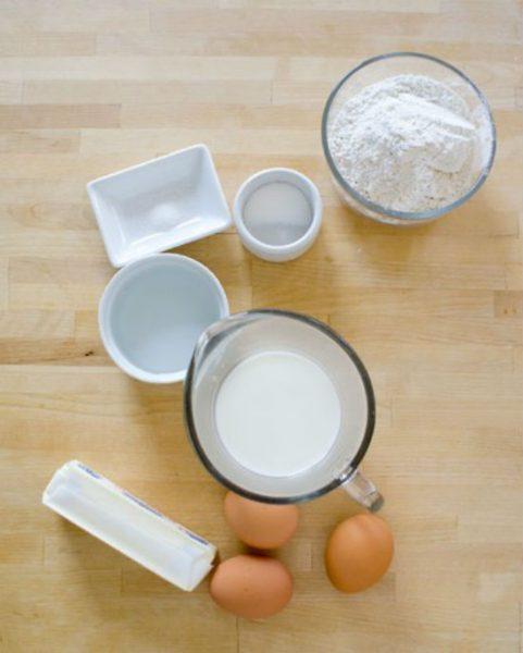 Nguyên liệu làm phần vỏ bánh