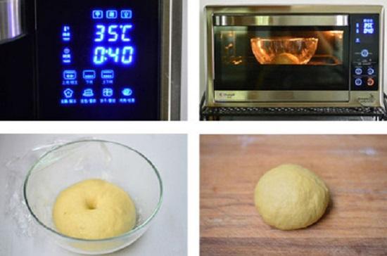 Cho tô bột vào trong lò nướng