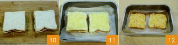 Nướng bánh đến khi pho mai tan chảy hết
