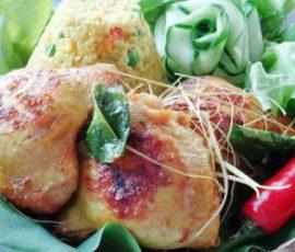 Món cơm gà rim nghệ đơn giản dễ làm tại nhà