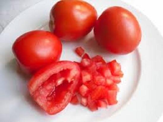 Cà chua bỏ hạt xay nhỏ