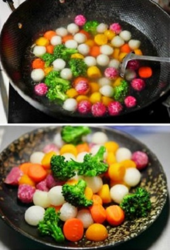 Chần sơ các loại rau củ