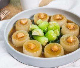 Món sò điệp khô hấp củ cải đậm vị ngon cơm