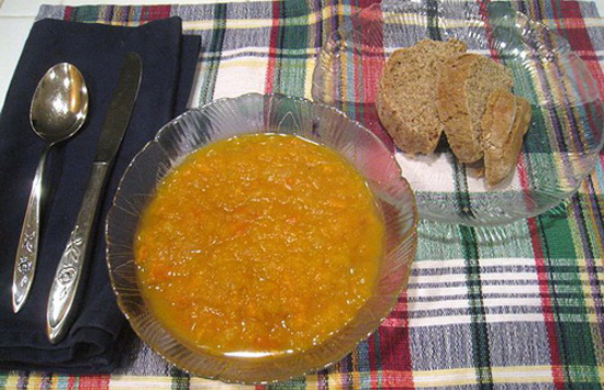 Súp bí đỏ khoai lang ngon bổ dưỡng