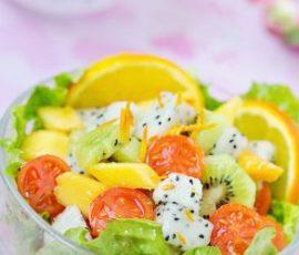 Món salad hoa quả bổ sung vitamin cho cả nhà