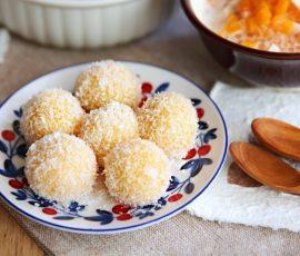 Món bánh khoai lang lăn dừa ngon hấp dẫn