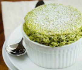 Món bánh souffle trà xanh đơn giản tại nhà