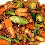 Món bạch tuộc xào cay kiểu Hàn đơn giản tại nhà