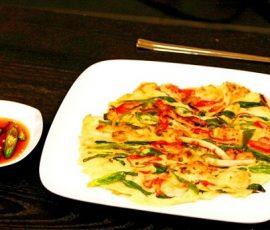 Món bánh Pancake hải sản Hàn Quốc