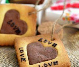 Món bánh cookie trái tim cho ngày Valentine