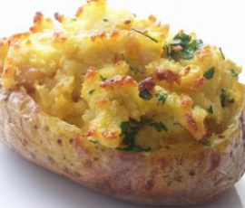 Món khoai tây nướng nhồi thịt pho mai ngon tuyệt