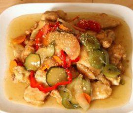 Món thịt chua ngọt kiểu Hàn lạ miệng