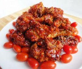 Món gà chiên cay kiểu Hàn Quốc