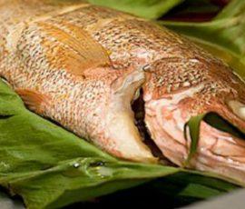 Món cá hấp chuối dân dã mà ngon miệng