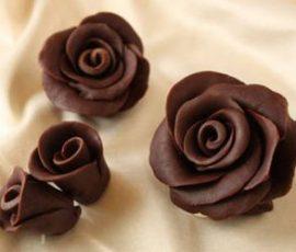 Bánh bông hồng Chocolate cho ngày Valentine