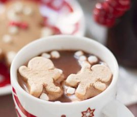 Trà cacao bánh gừng ấm bụng cho ngày đông