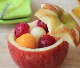 Cốc đựng trái cây từ quả táo độc đáo