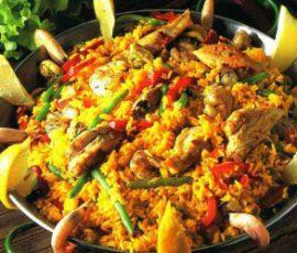 Món cơm hải sản Tây Ban Nha đơn giản tại nhà