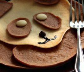 Món bánh crepe hình gấu Panda dễ thương cho bé
