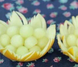 Đĩa đựng hoa quả từ dưa tuyệt đẹp