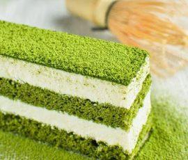 Món bánh kem trà xanh ngon tuyệt hấp dẫn