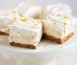 Món bánh cheesecake chanh bằng sữa đặc