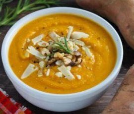 Món súp khoai lang cho trẻ biếng ăn
