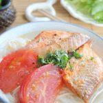 Món bún cá hồi siêu ngon