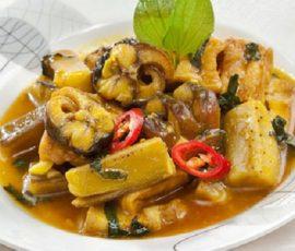 Món lươn om chuối đậu ngon tuyệt