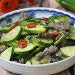 Món bí ngòi xào thịt bò thanh mát giải nhiệt