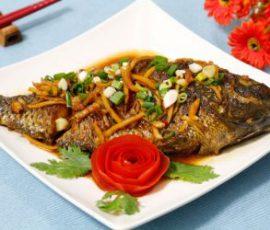 Món cá rô phi sốt nước tương ngon đến nao lòng