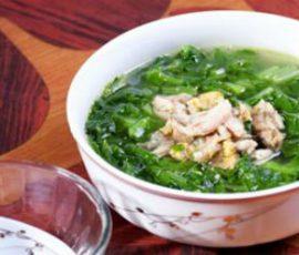 Món canh cải xanh thịt bằm giải nhiệt ngày hè
