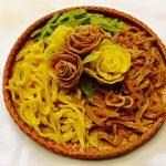 Món mứt khoai tây hoa hồng đẹp mắt dẻo ngon