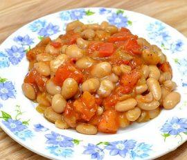 Món sốt rau củ đậu trắng