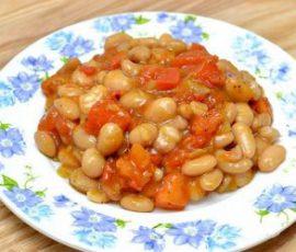Món sốt rau củ đậu trắng - món chay ngon hấp dẫn