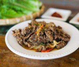 Món thịt bò xào kiểu Hàn ngon tuyệt tại nhà