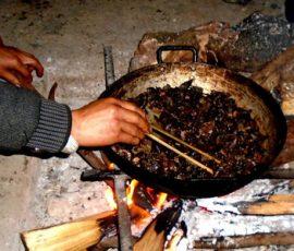 Thịt chuột rừng gác bếp - Món ăn của người dân Tả Phìn Lào Cai