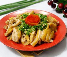 Món thịt gà hấp mỡ hành mềm ngọt ngon khó cưỡng