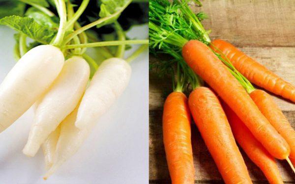 Cà rốt tuyệt đối không nên ăn cùng củ cải