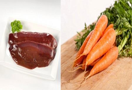 Không nấu cà rốt với gan động vật