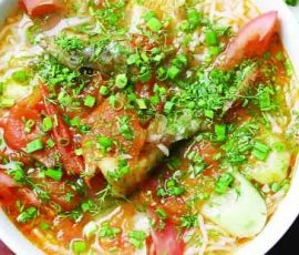 Món canh riêu cá ót ít của vùng biển Hạ Long