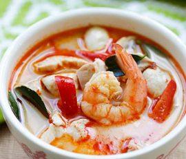 Món súp tôm thịt nước dừa kiểu Thái ngon không cưỡng nổi