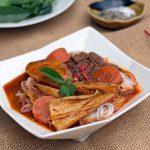 Món thịt bò chay kho củ cải trắng