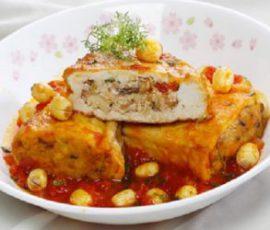 Món đậu hủ nhồi hạt sen ngon bổ dưỡng