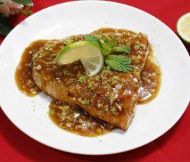 Món cá hồi sốt bơ chanh béo ngậy thơm lừng