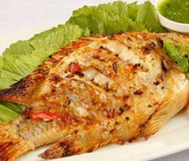 Món cá nướng chấm muối ớt xanh ngon chuẩn vị