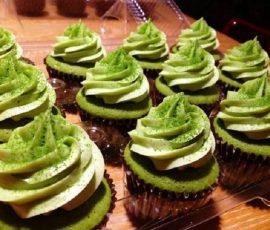 Món bánh cupcake trà xanh ngon miệng mà bắt mắt