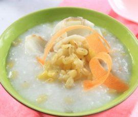 Món cháo cá lóc đậu xanh dinh dưỡng cho bà bầu