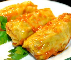 Món cơm cuộn bắp cải thơm ngon lạ miệng